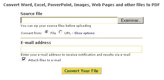 Menú PDF Converter