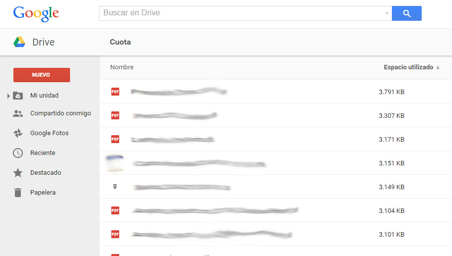 Cuota Google Drive