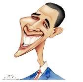 Caricatura de Barak Obama